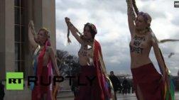 Γυμνόστηθη διαμαρτυρία κατά της Τιμοσένκο