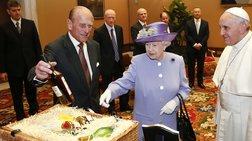Βασιλικά αυγά και ουίσκι στον πάπα