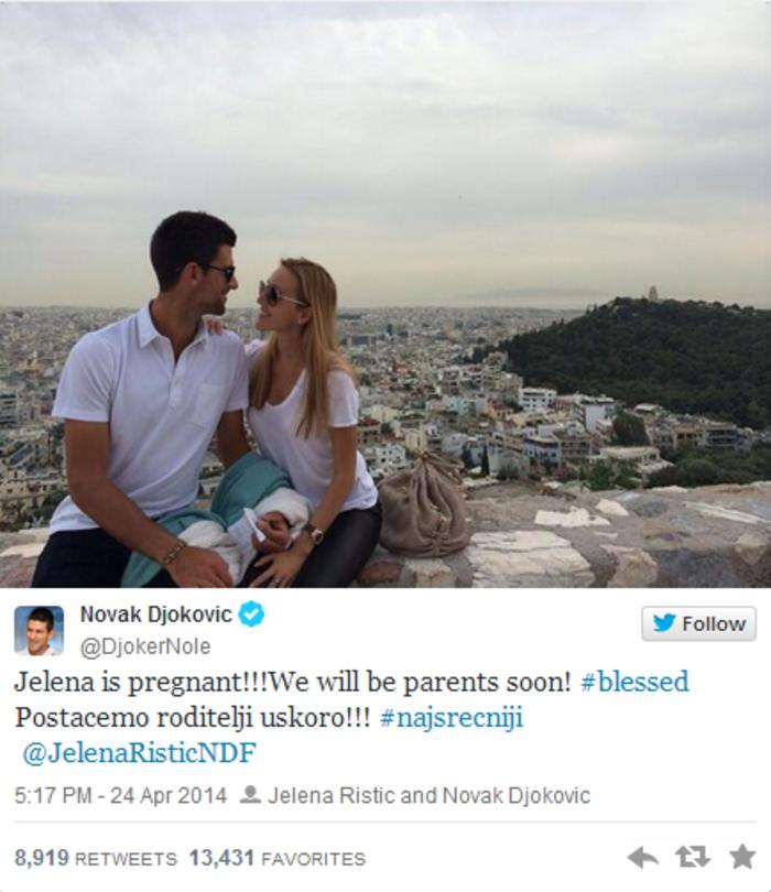 Τζόκοβιτς:Ανακοίνωσε από την Αθήνα ότι θα γίνει πατέρας - εικόνα 2