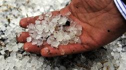 Καταστροφές σε καλλιέργειες από το χαλάζι σε Αργος, Νεμέα, Κόρινθο