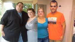Το ζευγάρι που αδυνάτισε 244 κιλά! [εικόνες]