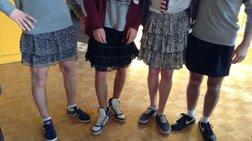 Ημέρα φούστας στα Κολέγια της Νάντης!