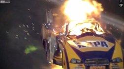 Φοβερή έκρηξη σε αγώνες ταχύτητας