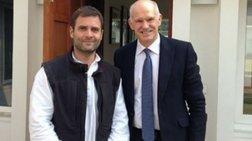 Συνάντηση Παπανδρέου με Γκάντι στο Νέο Δελχί