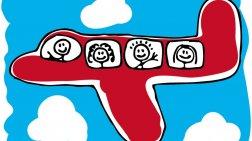 Ταξιδεύοντας αεροπορικώς με μικρά παιδιά