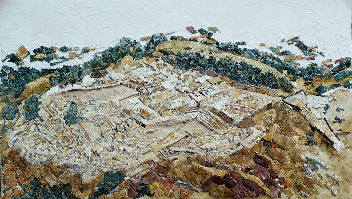 Ζάκρος, 120 Χ 72 εκ., πέτρα, μάρμαρο, όνυχας, κεραμικό, 2014. Εργο της Μάτως Ιωαννίδου