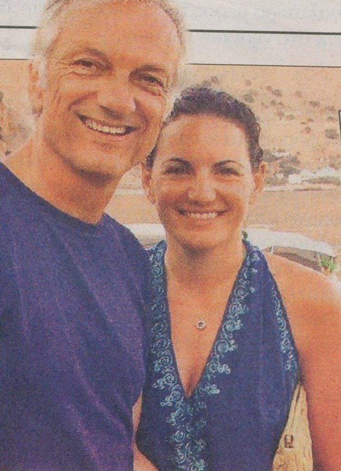 Η Όλγα Κεφαλογιάννη με τον σύζυγό της Μάνο Πενθερουδάκη στη φωτογραφία που ανάρτησε στο Instagram
