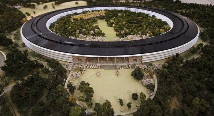 Το αρχηγείο της Apple σε σκίτσο όπως θα είναι μετά την ολοκλήρωση της κατασκευής
