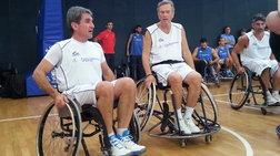Λοβέρδος και Ιωαννίδης σε αναπηρικό αμαξίδιο στην ημέρα σχολικού αθλητισμού