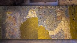 Αμφίπολη: υπέροχα ψηφιδωτά στο δάπεδο του τάφου