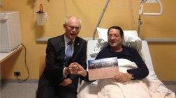 Την επίσκεψη του Βαν Ρομπάι δέχθηκε στο νοσοκομείο ο Νίκος Αναστασιάδης