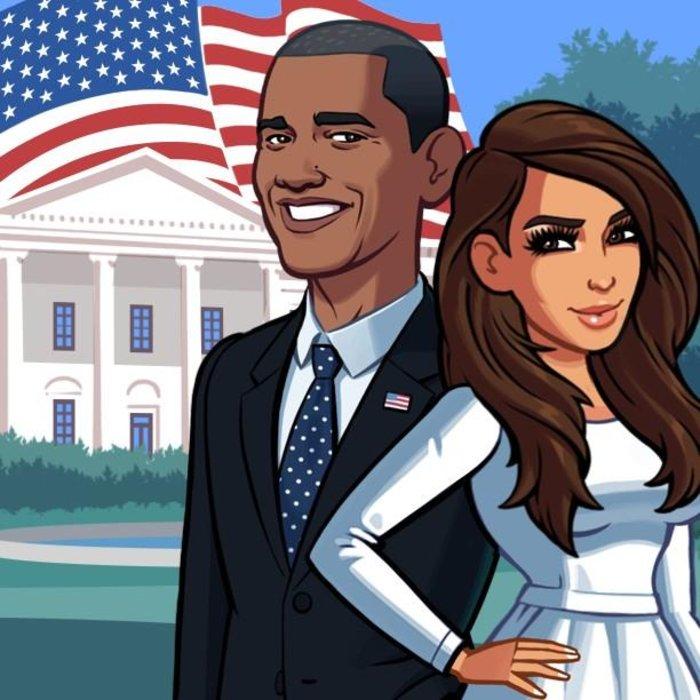 Η Καρντάσιαν έγινε καρτούν και στηρίζει Ομπάμα!