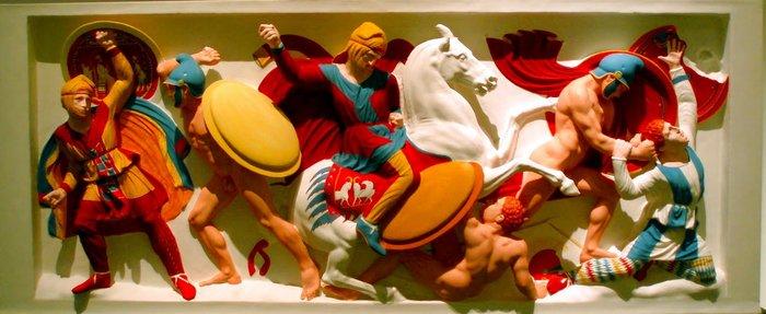 Από την έκθεση στη Νέα Γλυπτοθήκη της Κοπεγχάγης με τίτλο «Η μεταμόρφωση. Αρχαία γλυπτά με χρώματα».