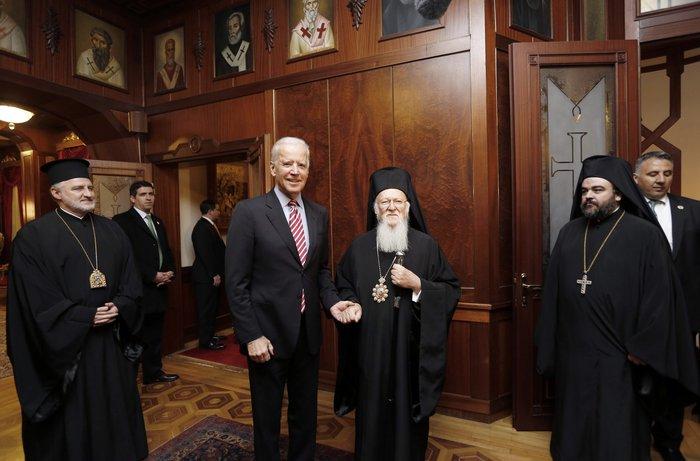 Biden meets Bartholomew