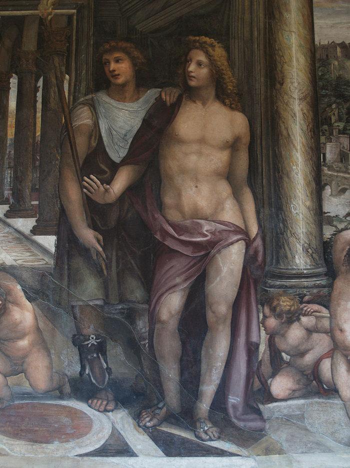 Αλέξανδρος και Ηφαιστίωνας, φρέσκο του 16ου αιώνα