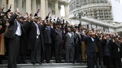 Υπάλληλοι του Καπιτωλίου σε συμβολική διαμαρτυρία