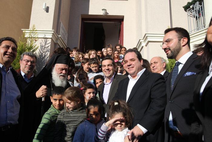 Τον Αλ. Τσίπρα υποδέχθηκε ο Ιερώνυμος στο Δημήτρειο Κέντρο της εκκλησίας