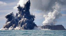 Ένα νησί γεννιέται στη «ζώνη της φωτιάς» του Ειρηνικού