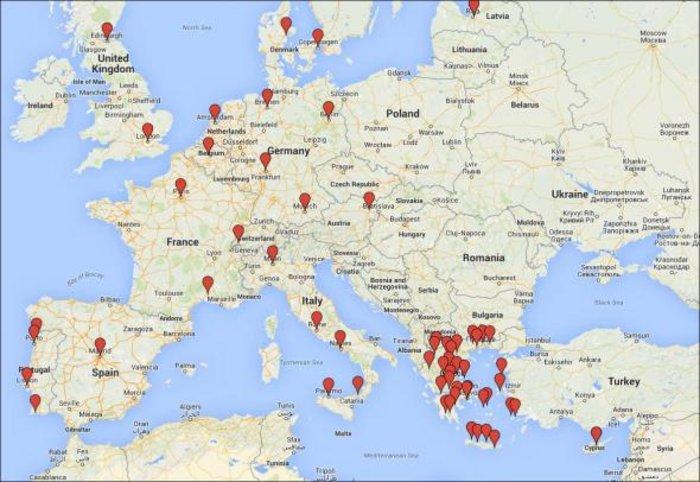 Δείτε τον παγκόσμιο χάρτη διαδηλώσεων υπέρ της Ελλάδας