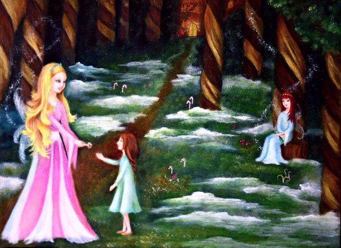 """Εικόνα από το βιβλίο """" Η μαγεμενη Ευχη"""" απο τις εκδοσεις Anima και σε εικονογράφηση της Αγγελικής Δρακάκη"""