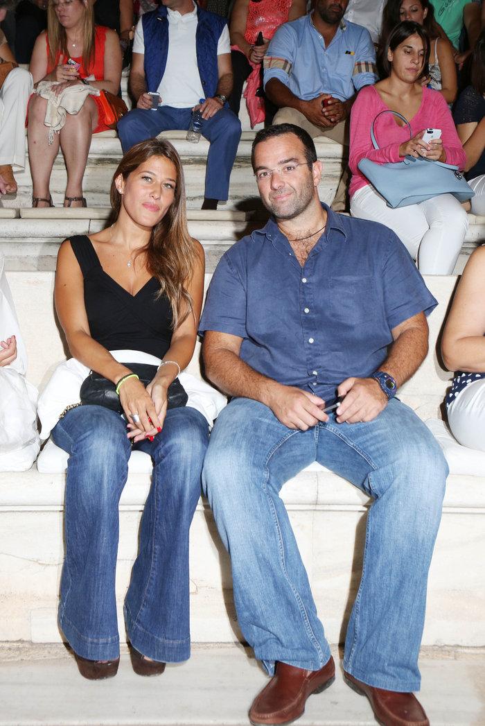 Το ζευγάρι στην Επίδαυρο στις 14 Σεπτεμβρίου του 2014