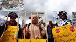 Γερμανία: Διαδήλωσαν ενάντια στη συμφωνία ελεύθερου εμπορίου