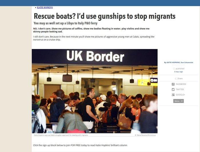Χαμός για την The Sun: Χαρακτήρισε «κατσαρίδες» τους μετανάστες