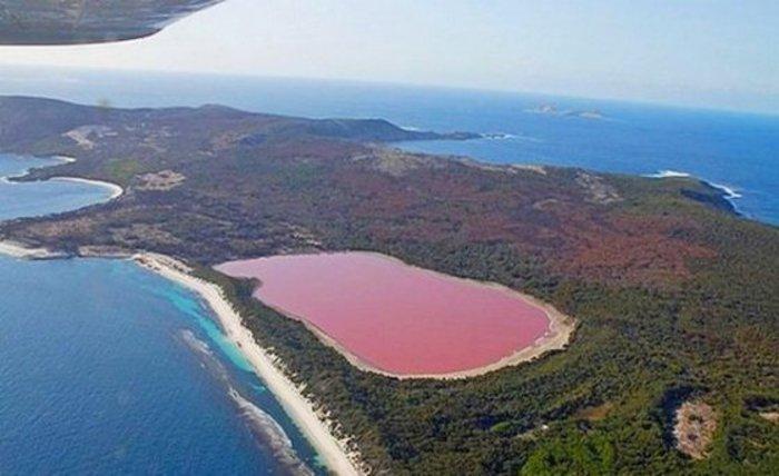 Η λίμνη Hllier στην Αυστραλία με τα νερά στο χρώμα της βιολέτας. Οι επιστήμονες δεν έχουν δώσει απάντηση για το φαινόμενο.