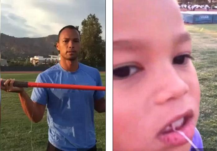 Ολυμπιονίκης βγάζει το δόντι της κόρης του με ακόντιο!