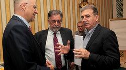 Πανούσης, Δένδιας, Χρυσοχοϊδης μαζί σε εκδήλωση της 'Αννας Διαμαντοπούλου
