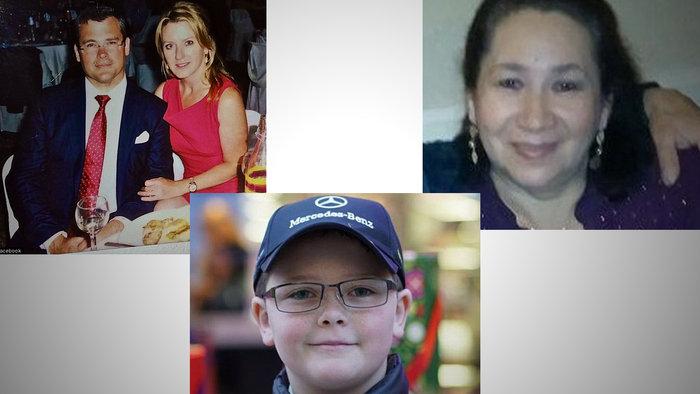Τα τέσσερα θύματα:Ο Σάββας Σαββόπουλος, η σύζυγός του Εμι, ο 10χρονος γιος τους Φίλιππος, και η 57χρονη οικονόμος Βεραλίσια Φιγκουέρα