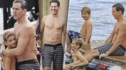 Ο Παύλος έγινε ξανά παιδί! Βουτιές με τους γιους του στη λίμνη Κόμο