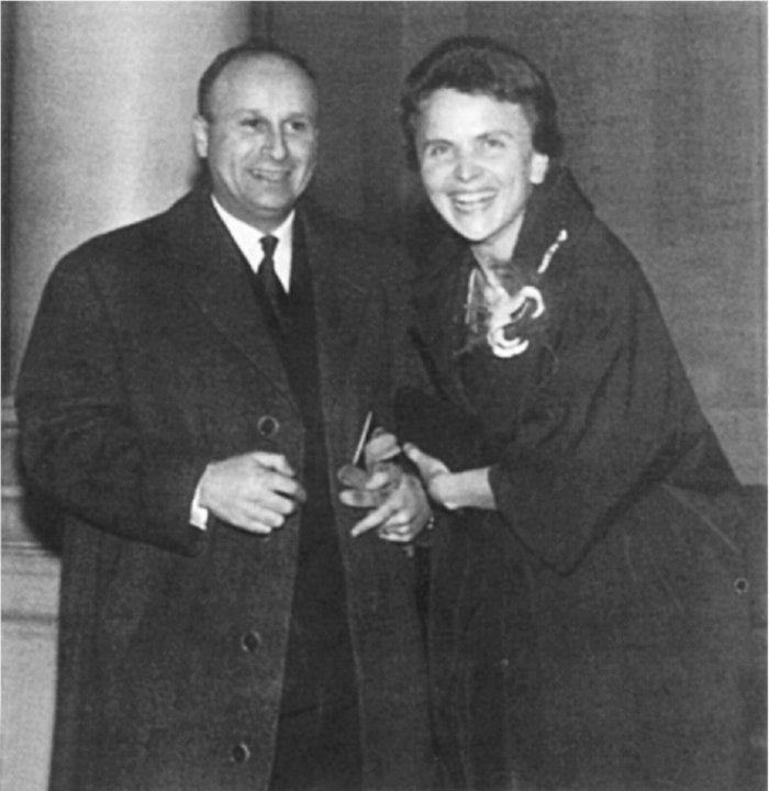 Με τον σύζυγό της, Ζακ Αρβελέρ