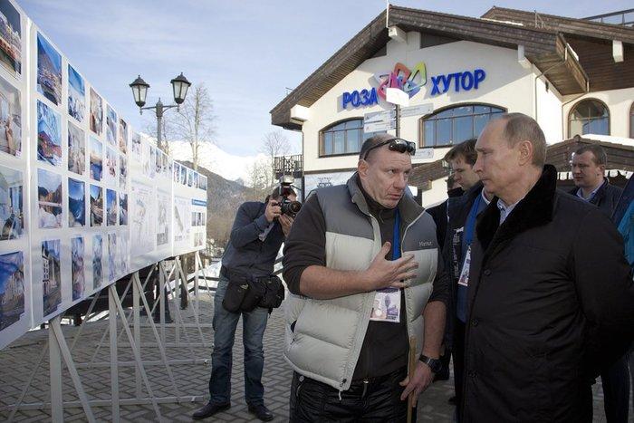 Ο Ποτάνιν μαζί με τον Ρώσο πρόεδρο Βλαντιμίρ Πούτιν στο Σότσι