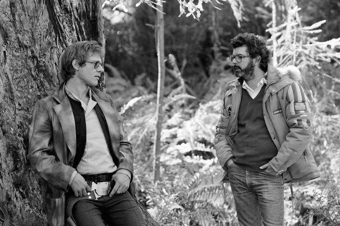 Ο Χάρισον Φορντ και ο Λούκας στο γύρισμα του «Επεισόδιο 6 - Η Επιστροφή των Τζεντάι»