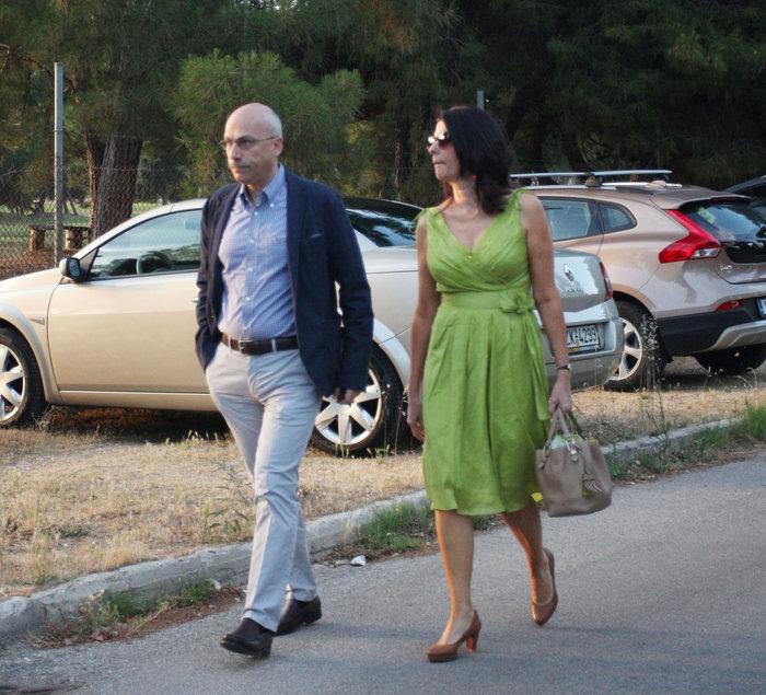 Ο Θόδωρος Μαργαρίτης με τη σύζυγό του