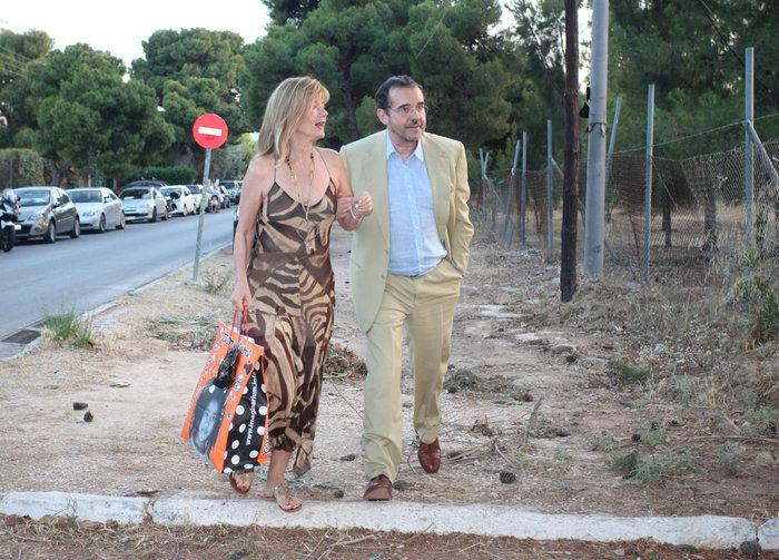 Ο Παύλος Τσίμας με τη σύζυγό του