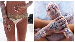 Μεταλλικά tattoo: Το «χρυσό άγγιγμα» του Μίδα στο κορμί σας