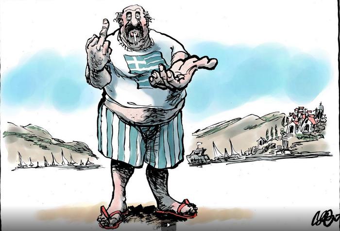 Δείτε πώς εμφανίζει τους Ελληνες σκίτσο Ολλανδικής εφημερίδας