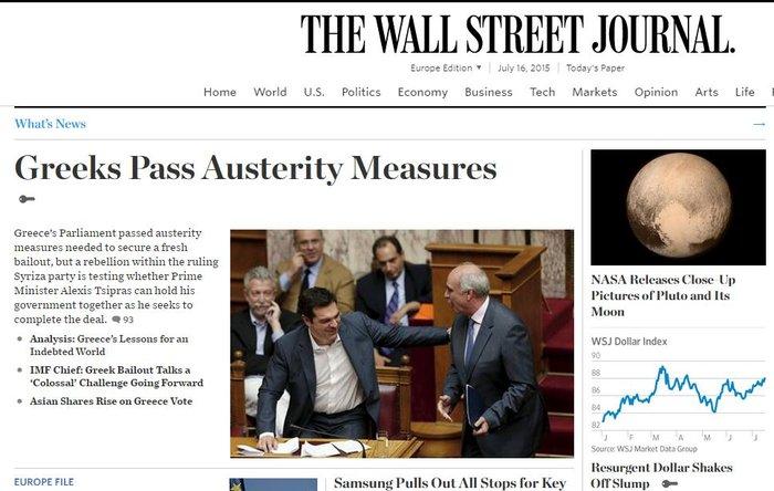 Ξένα ΜΜΕ: Το «Ναι» και οι απώλειες του ΣΥΡΙΖΑ στα πρωτοσέλιδα - εικόνα 6