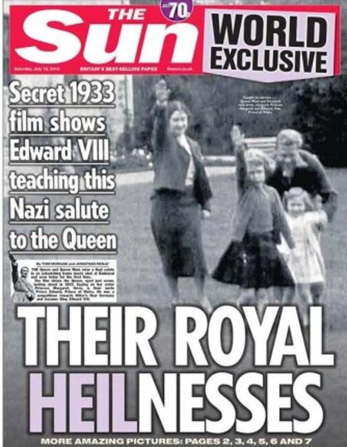 Sun: Η βασίλισσα Ελισάβετ σε ηλικία 7 χρονών χαιρετά ναζιστικά