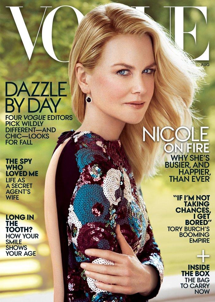 Η Νικόλ Κίντμαν παραμορφωμένη από το πολύ Photoshop στη Vogue