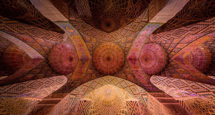 Ταβάνι στο τζαμί «Nasir al-Mulk» στο Σιράζ
