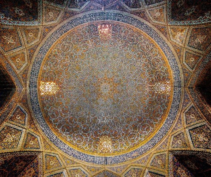 Ο θόλος του τεμένους Seyyed, στο Ισφαχάν