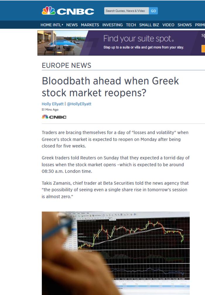 CNBC: Προειδοποιήσεις αναλυτών για «λουτρό αίματος» στο χρηματιστήριο