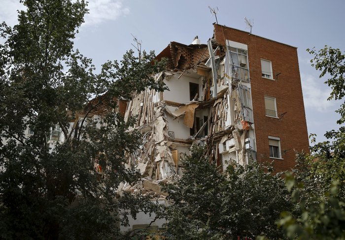 Κατέρρευσε πολυκατοικία στη Μαδρίτη