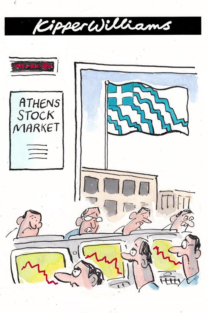 Το σκίτσο του Guardian για το κραχ στο χρηματιστήριο