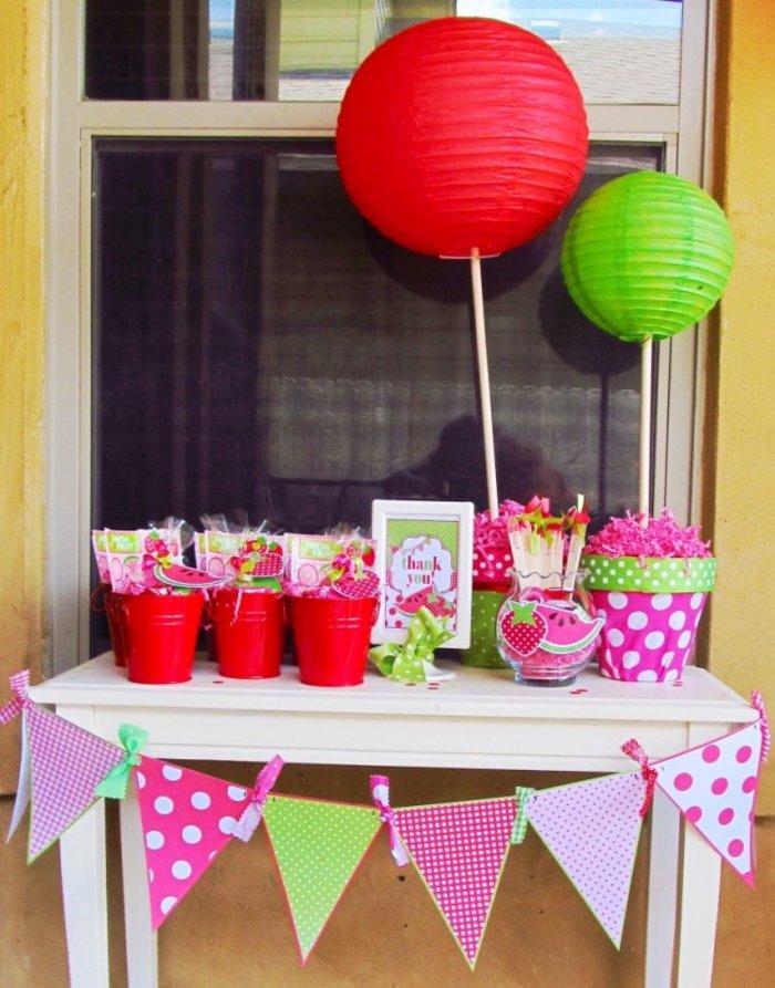 Πρωτότυπες ιδέες διακόσμησης με καρπουζάκια για το παιδικό πάρτι!