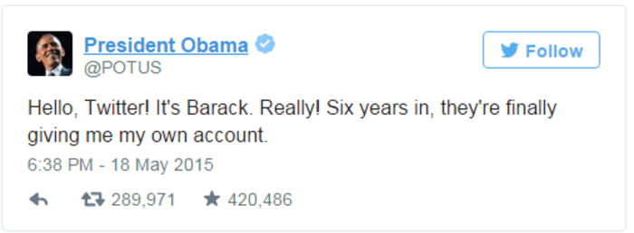 Ο Κλίντον συνεχίζει να «τρολάρει» ασταμάτητα τον Ομπάμα στο twitter