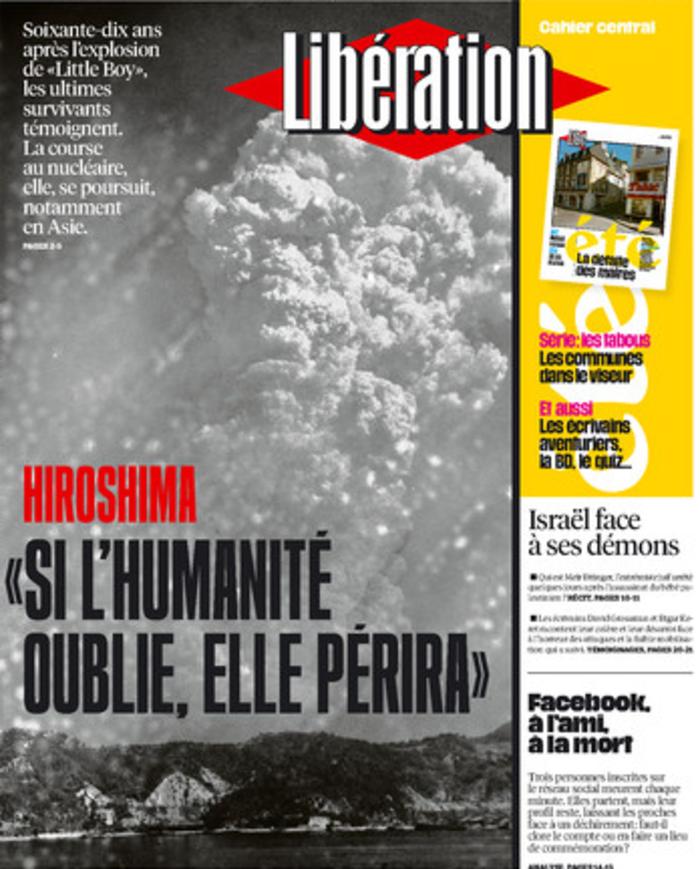 Συγκλονιστικό εξώφυλλο της Liberation για τη Χιροσίμα - εικόνα 2